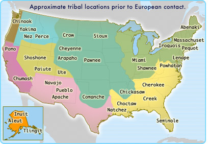 Cherokee Native Americans - Indian nation map us